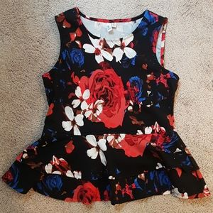 Jules & Leopold floral sleeveless top